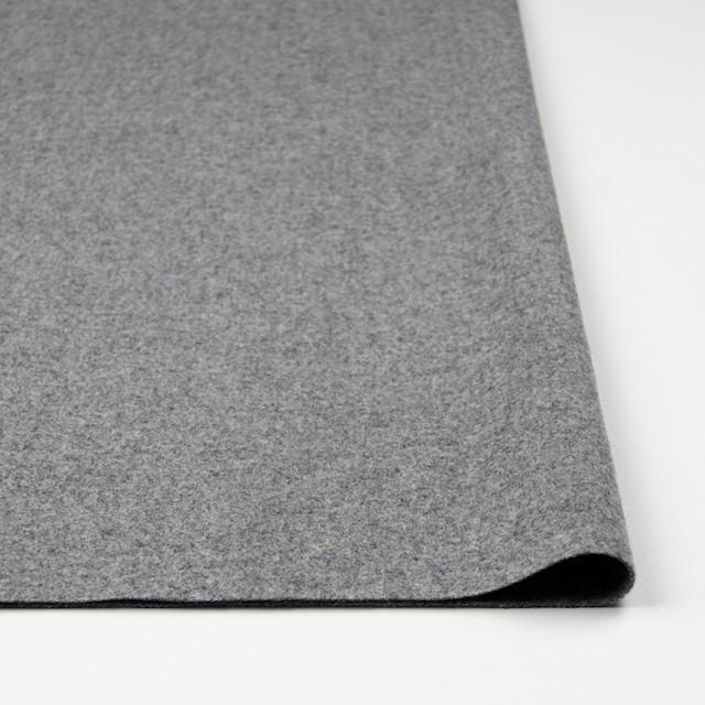 ウール&ナイロン混×無地(グレー)×フラノ・ストレッチ(フランネル) イメージ3