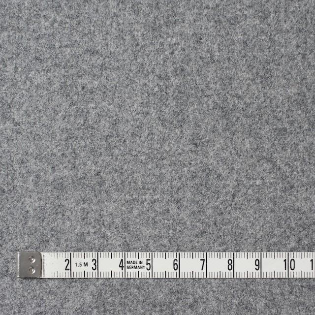 ウール&ナイロン混×無地(グレー)×フラノ・ストレッチ(フランネル) イメージ4