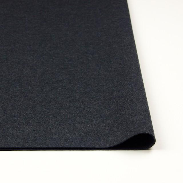 ウール×無地(チャコールグレー)×圧縮Wニット イメージ3