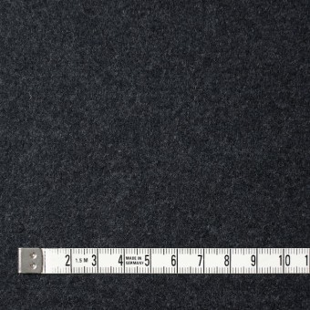 ウール×無地(チャコールグレー)×圧縮Wニット サムネイル4