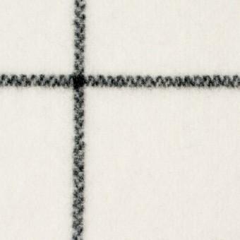 ウール×チェック(アイボリー)×メルトン_全2色