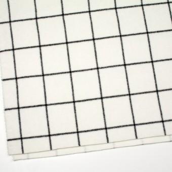 ウール×チェック(アイボリー)×メルトン_全2色 サムネイル2