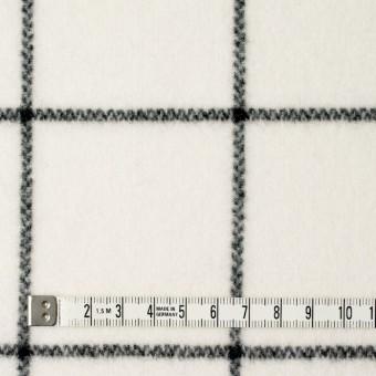 ウール×チェック(アイボリー)×メルトン_全2色 サムネイル4