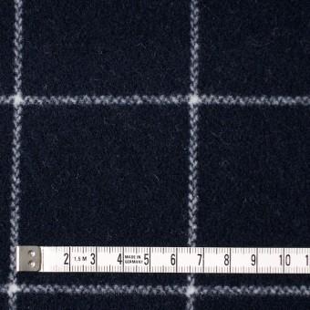 ウール×チェック(ダークネイビー)×メルトン_全2色 サムネイル4