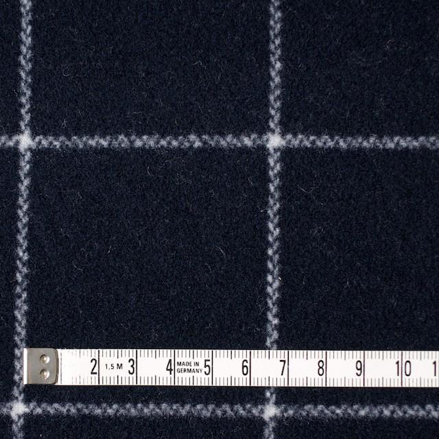 ウール×チェック(ダークネイビー)×メルトン_全2色 イメージ4