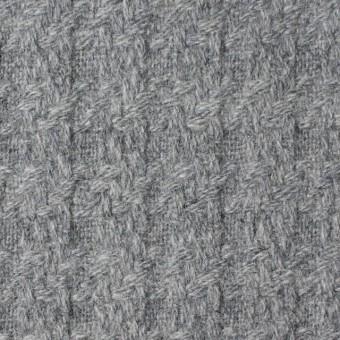 ウール×無地(グレー)×かわり織