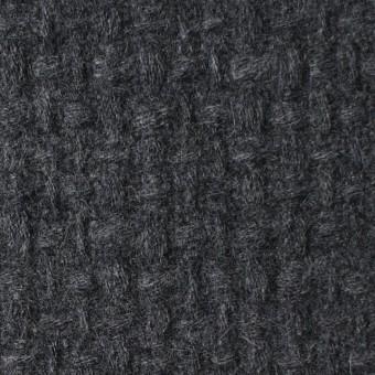 ウール×無地(チャコールグレー)×かわり織 サムネイル1