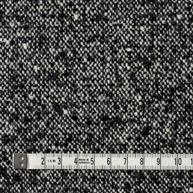 ウール&ポリエステル×ミックス(オフホワイト&ブラック)×ファンシーツイード イメージ4