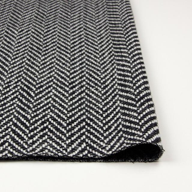 ウール×ミックス(オフホワイト&ブラック)×ヘリンボーン イメージ3