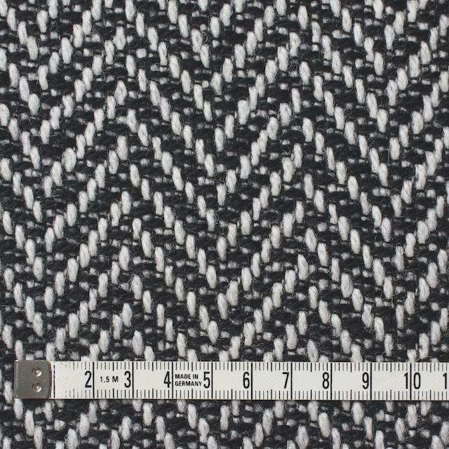 ウール×ミックス(オフホワイト&ブラック)×ヘリンボーン イメージ4