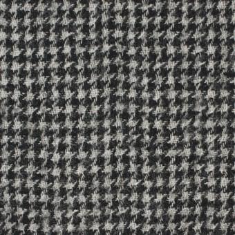 ウール×チェック(アイボリー&ブラック)×千鳥格子ガーゼ サムネイル1