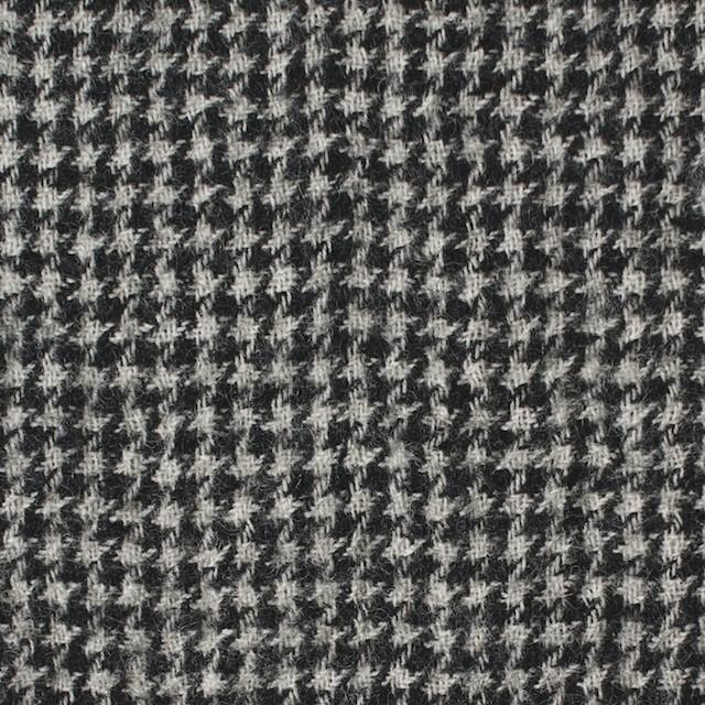 ウール×チェック(アイボリー&ブラック)×千鳥格子ガーゼ イメージ1
