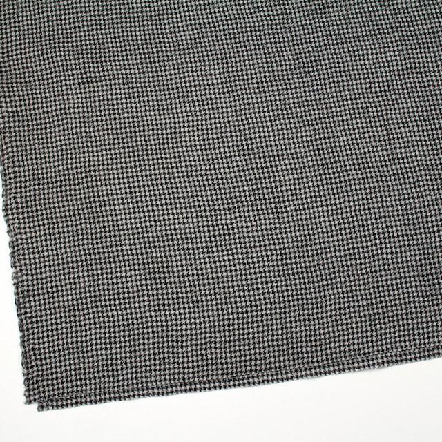 ウール×チェック(アイボリー&ブラック)×千鳥格子ガーゼ イメージ2