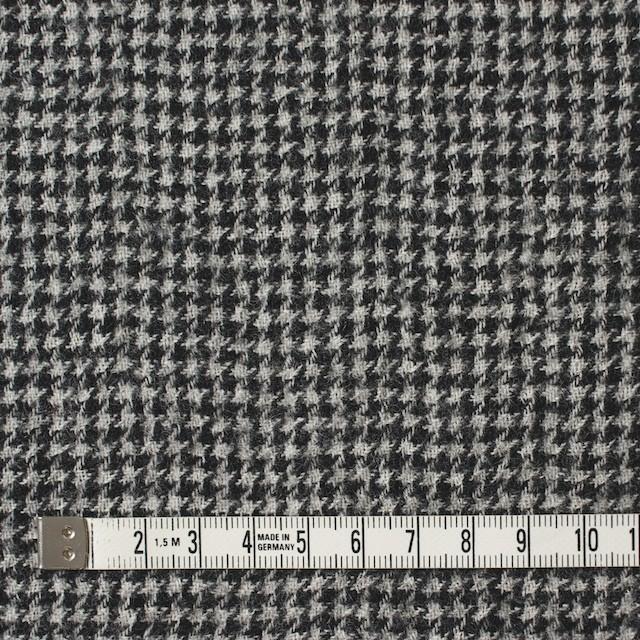 ウール×チェック(アイボリー&ブラック)×千鳥格子ガーゼ イメージ4