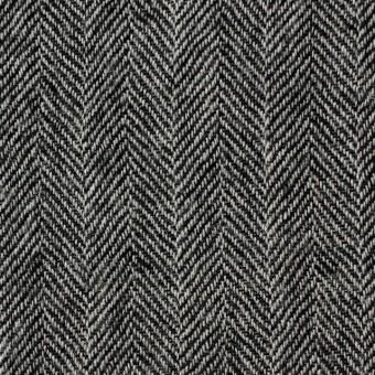 ウール×ミックス(アイボリー&ブラック)×ヘリンボーンガーゼ