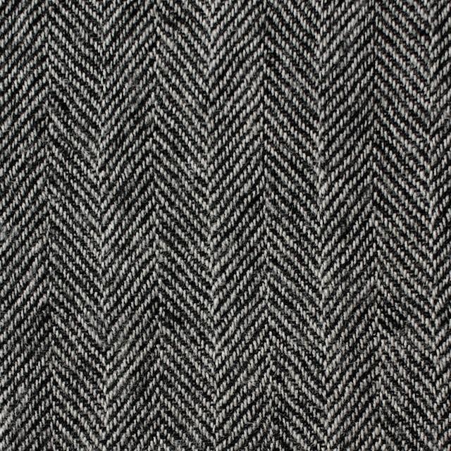 ウール×ミックス(アイボリー&ブラック)×ヘリンボーンガーゼ イメージ1