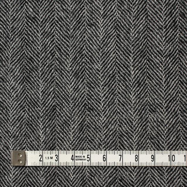 ウール×ミックス(アイボリー&ブラック)×ヘリンボーンガーゼ イメージ4