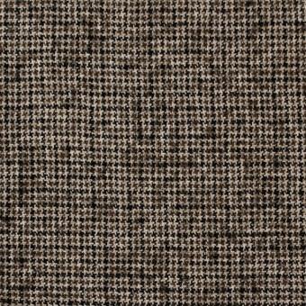 ウール&リネン×チェック(モカブラウン)×千鳥格子 サムネイル1