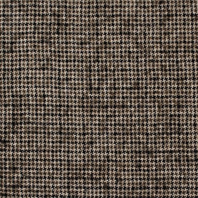 ウール&リネン×チェック(モカブラウン)×千鳥格子 イメージ1