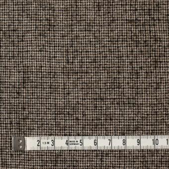 ウール&リネン×チェック(モカブラウン)×千鳥格子 サムネイル4