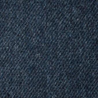 ウール&ポリエステル混×無地(ネイビーブルー)×サキソニー・ストレッチ