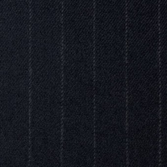 ウール&ポリウレタン×ストライプ(ダークネイビー)×サージ・ストレッチ サムネイル1