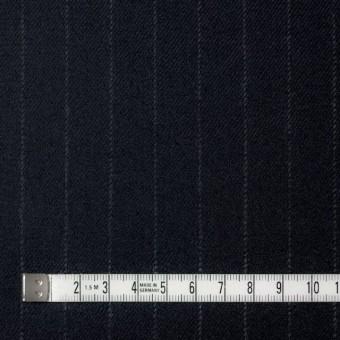 ウール&ポリウレタン×ストライプ(ダークネイビー)×サージ・ストレッチ サムネイル4