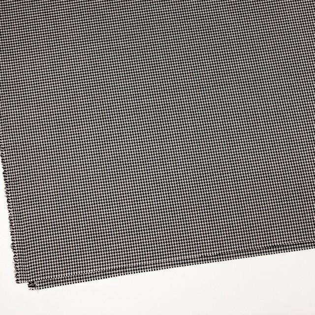 ウール&シルク×チェック(アイボリー&ブラック)×千鳥格子 イメージ2