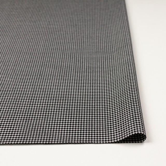 ウール&シルク×チェック(アイボリー&ブラック)×千鳥格子 イメージ3