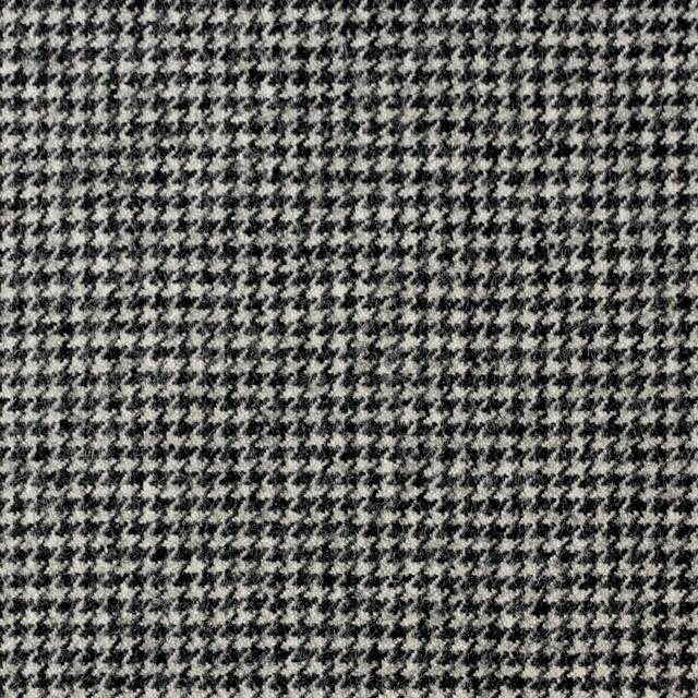 ウール&ポリウレタン×チェック(アイボリー&ブラック)×千鳥格子・ストレッチ イメージ1