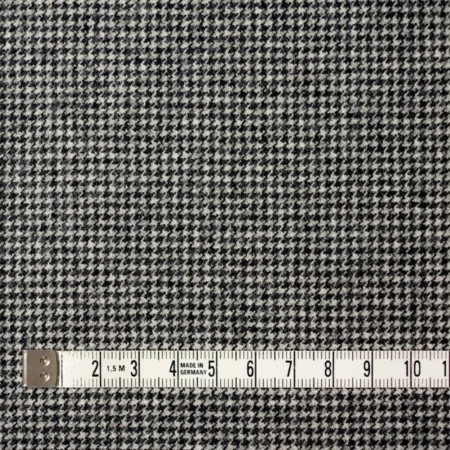 ウール&ポリウレタン×チェック(アイボリー&ブラック)×千鳥格子・ストレッチ イメージ4