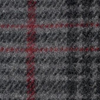 ウール×チェック(グレー)×カルゼ サムネイル1