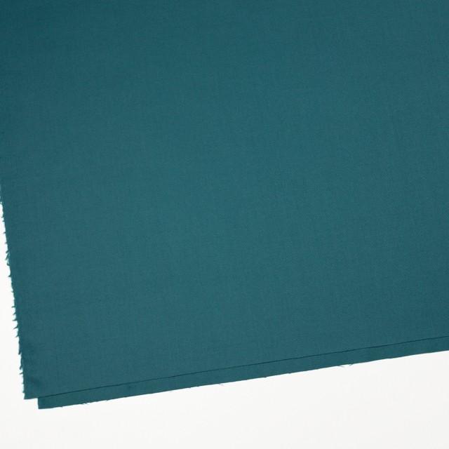 ウール&ポリウレタン×無地(ターコイズブルー)×サージ・ストレッチ イメージ2