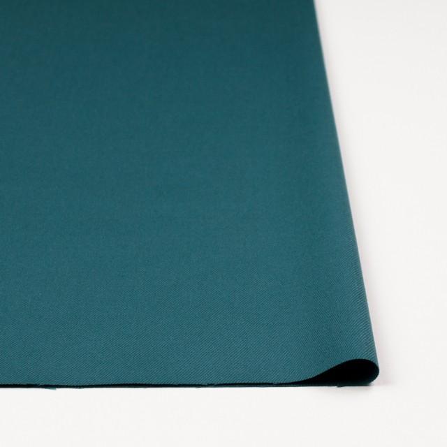 ウール&ポリウレタン×無地(ターコイズブルー)×サージ・ストレッチ イメージ3