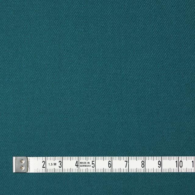 ウール&ポリウレタン×無地(ターコイズブルー)×サージ・ストレッチ イメージ4