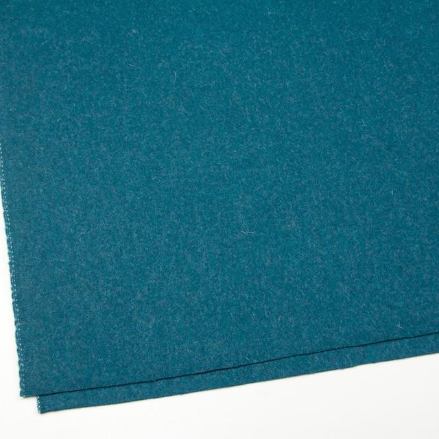 ウール&ナイロン×無地(ターコイズブルー)×二重織 イメージ2