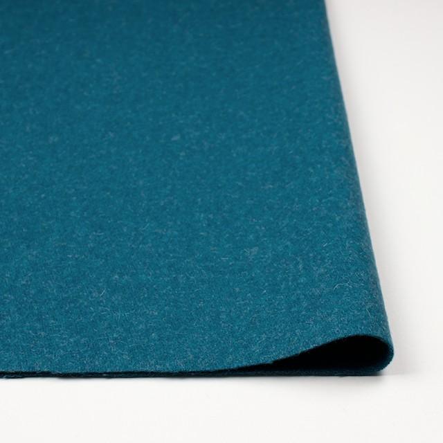 ウール&ナイロン×無地(ターコイズブルー)×二重織 イメージ3