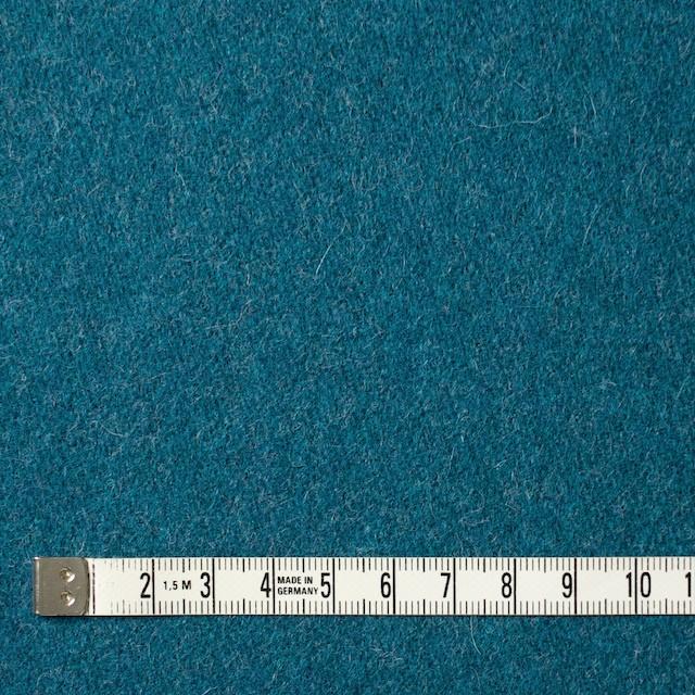 ウール&ナイロン×無地(ターコイズブルー)×二重織 イメージ4