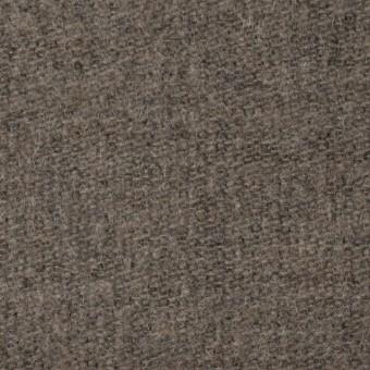 ウール&ポリエステル×無地(カーキベージュ)×かわり織_全2色