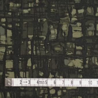 コットン&ポリウレタン×幾何学模様(カーキグリーン)×チノクロス・ストレッチ_全2色 サムネイル4