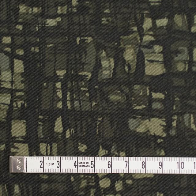コットン&ポリウレタン×幾何学模様(カーキグリーン)×チノクロス・ストレッチ_全2色 イメージ4