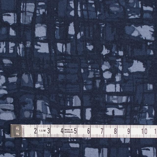 コットン&ポリウレタン×幾何学模様(アイアンネイビー)×チノクロス・ストレッチ_全2色 イメージ4