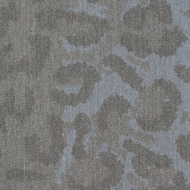 コットン&ポリエステル×レオパード(シルバーグレー)×チノクロス イメージ1