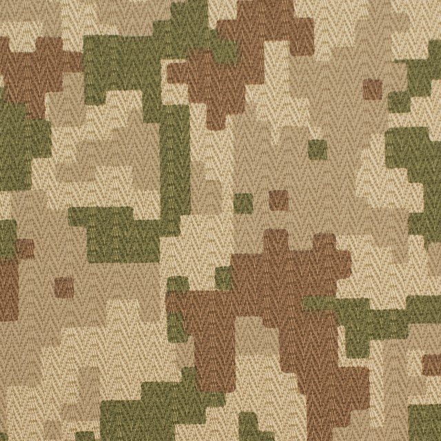 コットン×迷彩(ライトベージュ)×ヘリンボーン_全3色 イメージ1