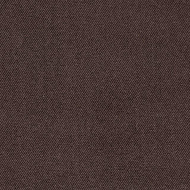 コットン&ポリノジック混×無地(ブラウン)×サージストレッチ_全2色 イメージ1