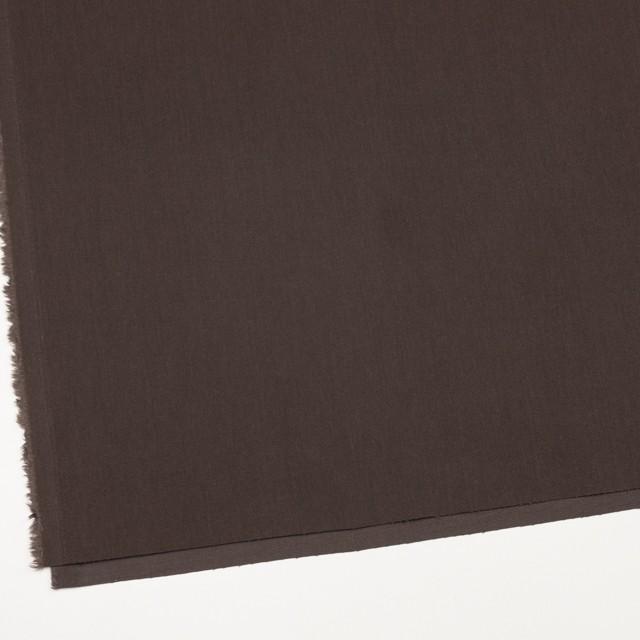 コットン&ポリノジック混×無地(ブラウン)×サージストレッチ_全2色 イメージ2