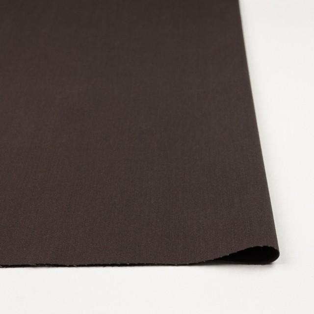 コットン&ポリノジック混×無地(ブラウン)×サージストレッチ_全2色 イメージ3