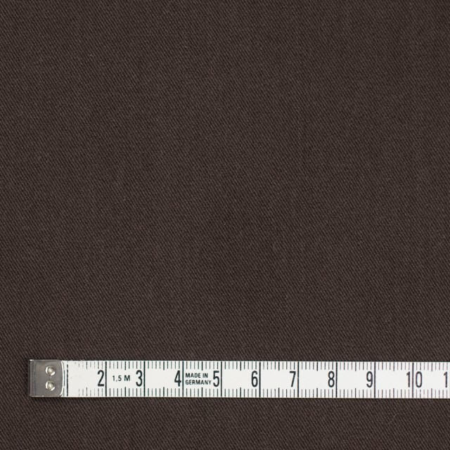 コットン&ポリノジック混×無地(ブラウン)×サージストレッチ_全2色 イメージ4