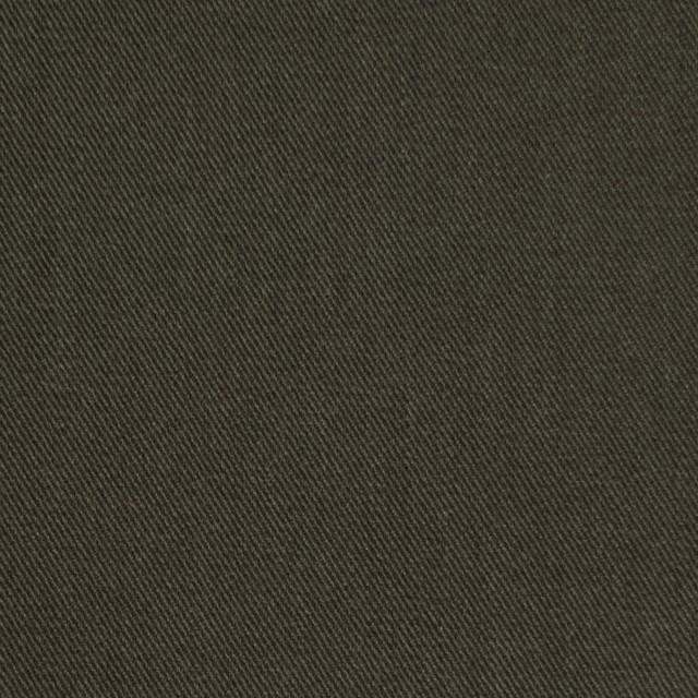コットン&ポリノジック混×無地(カーキグリーン)×サージストレッチ_全2色 イメージ1