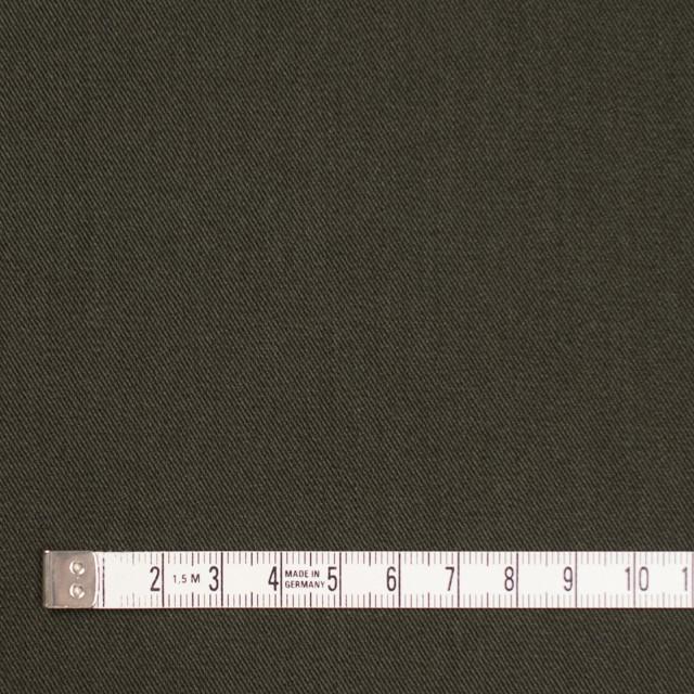 コットン&ポリノジック混×無地(カーキグリーン)×サージストレッチ_全2色 イメージ4